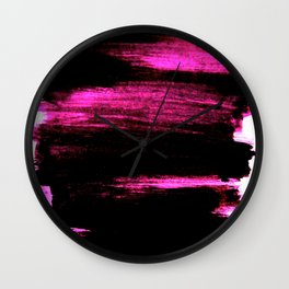 black and pink Wall Clock
