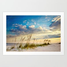 Sea Oats Beach Sunset Art Print