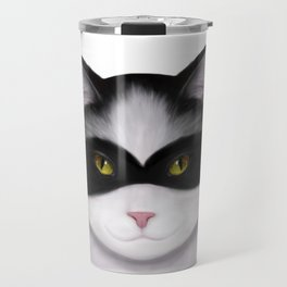 They call me the Masked Cat Travel Mug