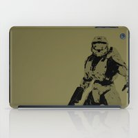 master chief iPad Cases featuring Master Chief by Anthony Bellus