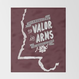 Mississippi Motto (Maroon) Throw Blanket