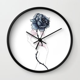 Blood Into Ink Wall Clock