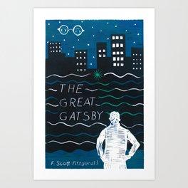 The Great Gatsby by F. Scott Fitzgerald Art Print