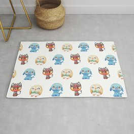Rowlet, Litten and Popplio - Starters - Pocket Monsters Rug