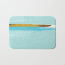 Teal Dream Abstract Bath Mat