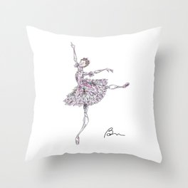 Yasmine Naghdi as the Rose Fairy, Nutcracker Throw Pillow