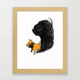 Haunted pug Framed Art Print