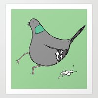 Silly Pigeon Art Print