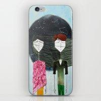 sandra dieckmann iPhone & iPod Skins featuring Sandra & Amir by Edward M.