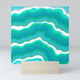 seaglass waves Mini Art Print