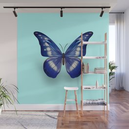 Blue Butterfly Wall Mural