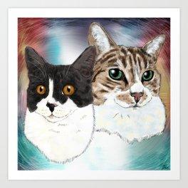 Lily and Sasha Art Print
