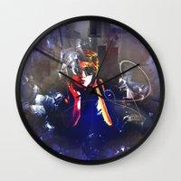boys Wall Clocks featuring Hello Boys by Digital-Art