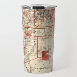 Vintage Map of New Mexico (1882) Travel Mug