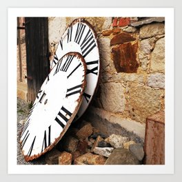 old tower clocks Art Print