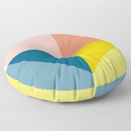 Color Block Heart Floor Pillow