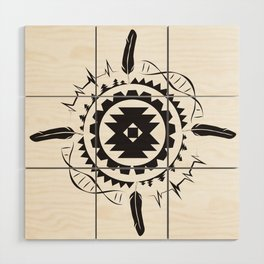 Native Amrican STEM Mandala Southwestern Wood Wall Art