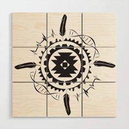 Native Amrican STEM Mandala Southwestern Wood Wall Art
