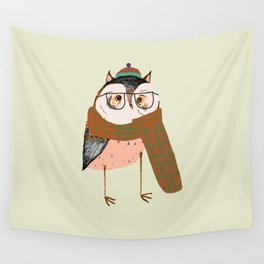 Owls Love Scarfs.  Wall Tapestry