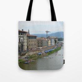 Florence - Arno with Kayak Water Polo Tote Bag