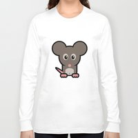 mouse Long Sleeve T-shirts featuring Mouse by mrninja13