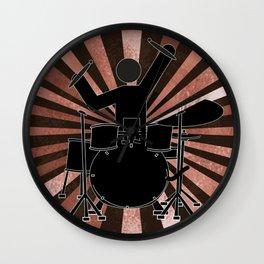 Drummer Stick Figure Wall Clock
