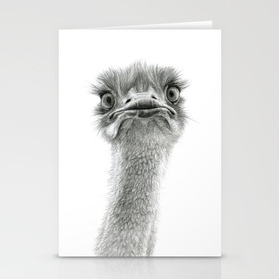 Cute Ostrich SK053 Stationery Cards