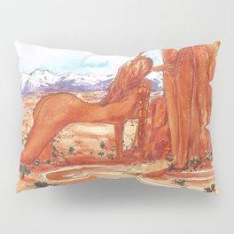 Arches National Park - Erotic Nature Couple Painting Pillow Sham