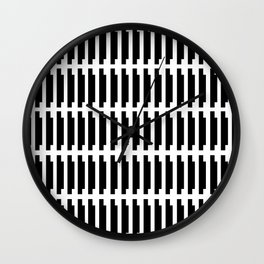 shadow stamp. black and white pattern Wall Clock