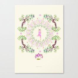 yoga garden VI Canvas Print