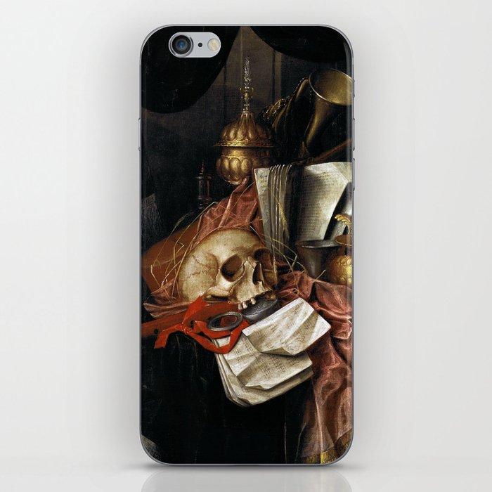 Vintage Vanitas - Still Life with skull 2 iPhone Skin