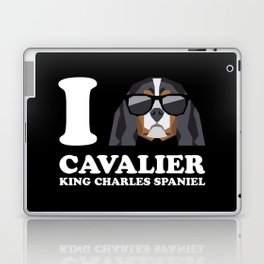 I Love Cavalier King Charles Spaniel modern v2 Laptop & iPad Skin