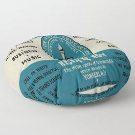 Vintage poster - Adult Education Floor Pillow