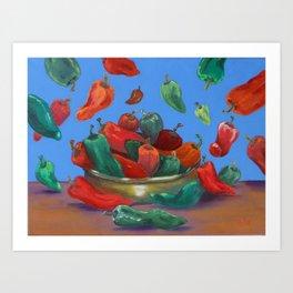 Raining Chiles Art Print