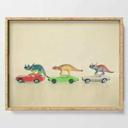 Dinosaurs Ride Cars Serving Tray
