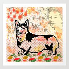Corgi pop art Art Print