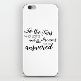 to the stars who listen (acomaf) iPhone Skin