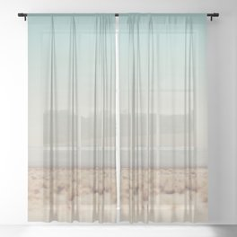 in the middle of the desert ... Sheer Curtain