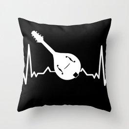 Mandolin heartbeat musical instrument musician Throw Pillow