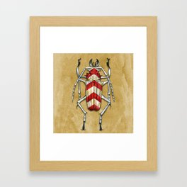 Stripped Psalidognathus Beetle Framed Art Print