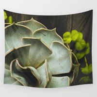 succulent Wall Tapestries featuring Succulent by Olivia Joy StClaire