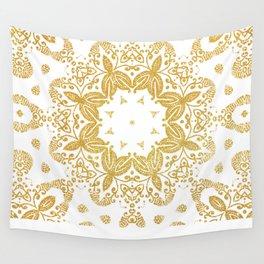 Golden mandala Wall Tapestry