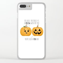 You're Such A Pun-Kin! Clear iPhone Case