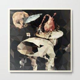 Hieronymus Bosch - Polygonal Garden of Earthly Delights Metal Print