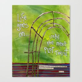 Plot Twist Canvas Print