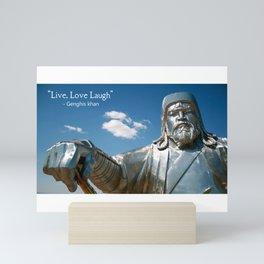 Genghis Khan quote Mini Art Print