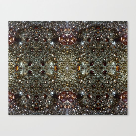 Abstract brown, dark gray texture pattern Canvas Print