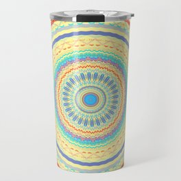 Spring Color Mandala Design Travel Mug