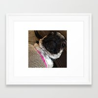 muppet Framed Art Prints featuring Pug Muppet by Red NCK Debutante