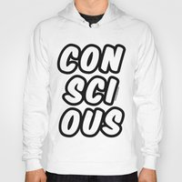 comic book Hoodies featuring Comic by Conscious Panda